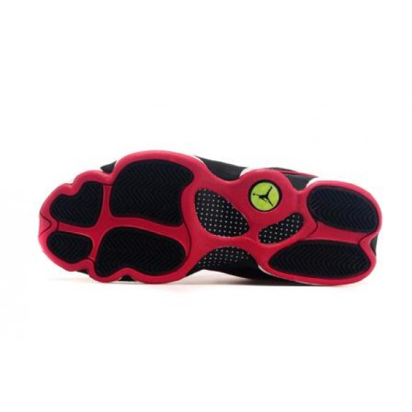 d55575a40882 Air Jordan 13 Low Black White Red Low
