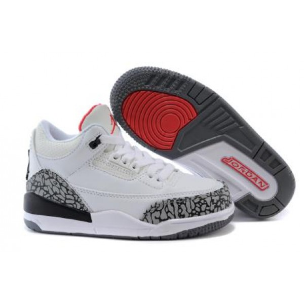 new product 45509 db71f Air Jordan 3 White Cement For Kids , Cheap Jordan Sale